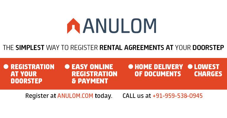 Anulom Easy Rent Agreement Registration Leave License Online